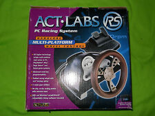 Act Labs RS ~ PC Racing System Set  {includes Steering Wheel and Pedals }