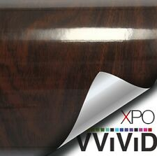 "VViViD Gloss Dark Cedar 1ft x 48"" Wood Grain Architectural Wrap Vinyl Film DIY"