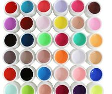 36 PCS Nail Art Solid Pure Mix Color UV Builder Gel Acrylic Makeup kit