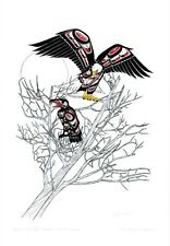 Spirit of the Eagle Lies Within Richard Shorty Art Card Northern Tuchone Native