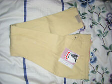 Tattini Italian Lycra Breeches Size 8 Pale Yellow Ideal For Hunting -New