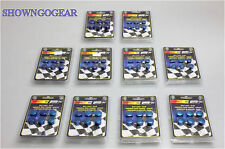 BLUE DRESS UP METAL BOLT CAPS MR GASKET 60 PIECES HOTROD DRAG HOLDEN FORD