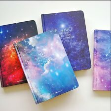 """Stars Come"" 1pc Journal Diary Hard Cover Lined Planner Notebook Agenda"