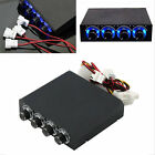 3.5inch PC HDD CPU 4 Channel Fan Speed Controller Led Cooling Front Panel P2