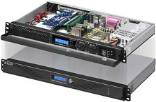 "1U FanLCD (250W PSU) ( 5.25"" / 3.5""/ 2x2.5"" HDD) (Rackmount Chassis)ITX Case NEW"