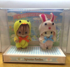 Japan Sylvanian Families Costume Festival Duck and Rabbit Baby Play set RARE