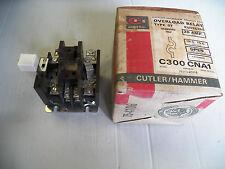NEW CUTLER HAMMER OVERLOAD RELAY C300 CNA1 C300CNA1 30A 30 A AMP SER A1 600V