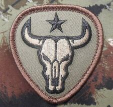BULL SKULL TEXAS STAR US ARMY MILITARY TACTICAL US ISAF MORALE FOREST HOOK PATCH