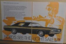 1968 two page magazine ad for Ford - Fairlane, Hottest Success Star