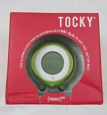 Nwt Tocky Touch the alarm clock that plays mp3s as it rolls away green