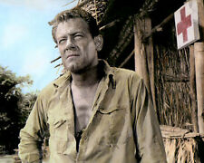 "WILLIAM HOLDEN THE BRIDGE ON THE RIVER KWAI 1957 8x10"" HAND COLOR TINTED PHOTO"