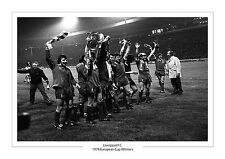 LIVERPOOL F.C 1978 EUROPEAN CUP A4 PHOTO PRINT WINNERS