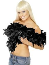 BLACK 20s DELUXE FEATHER BOA 180cm 80g Burlesque Fancy Dress Accessories  38301