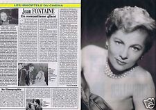 Coupure de presse Clipping 2002 Joan Fontaine  (2 pages)