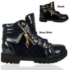 LADIES HI TOP SHINY SUEDE BOOTS PLATFORM WOMEN TRAINER ANKLE SHOES SIZE UK 3-8
