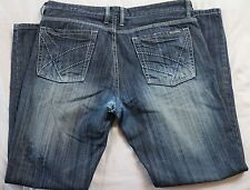 Kenneth Cole New York Jeans 36 32 blue cotton denim stone wash blue zip up