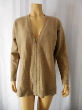 EILEEN FISHER 100% Cashmere Sweater Cardigan size PM petite Medium beige