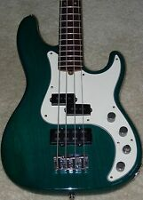 Fender American Deluxe Precision Bass - Teal Green Transparent Ash Body - EXC