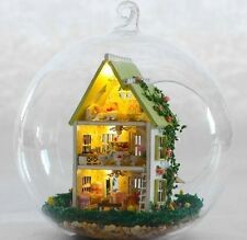 DIY LED LIGHT crystalball mini-series Dollhouse green house villa kit