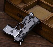 Electric Shock Led Pistol Lighter Pistol Gun Refillable