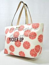 NWT Kate Spade New York Flights Of Fancy Pucker Up Francis Tote in Cream & Coral
