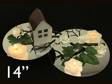 """12 pc x Round 14"""" Glass LARGE MIRROR Wedding Table Decoration Party Centerpieces"""