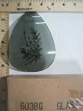FREE US SHIPPING ok touch lamp replacement glass Gray Flower Plant 603-BG