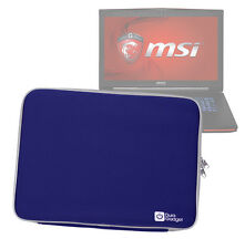 Blue Impact-Resistant Neoprene Case/Pouch/Cover for MSI GT70 / GT72 Dominator