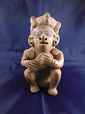 vtg Hand Crafted Clay Figurine from Ecuador - Tribal