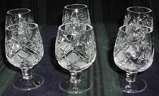 6 Russian Crystal Shotglasses Glasses. 1.7oz (50 ml). Vodka Whisky Cognac