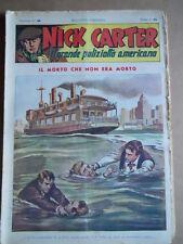 Nick Carter Il Grande poliziotto americano Anni 40 n°40 ed. NERBINI  [G369]