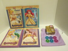 DISNEY PRINCESS HARD COVER DELUXE 4 BOOK SET + MOVIE PROJECTOR & 6 PHOTO REELS !