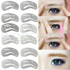 24 Eyebrow Stencils Shaping Grooming Brow Template Reusable Design  Make Up Set