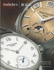 SOTHEBY'S HK WATCH Piguet Breguet Chopard Muller Panerai Patek Rolex Catalog 14