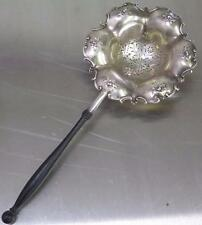 Antique 19 c Gorham High Relief Repousse Large Sterling Silver Tea Strainer 380