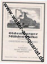 Oldenburger Mühlenwerke Ohmstede Mühle Große Werbeanzeige anno 1924 Reklame