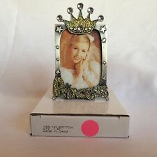 Pewter Small Picture Frame with Crown on top