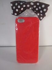 Henri Bendel Neon Case For Iphone Cell Holder 5 RED NWT $48.00