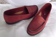 Mens Sperry Topsider Red Nubuck Leather Penny Loafers Non-Slip Size 11 M FUN!