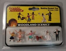 Woodland Scenics Figures - HO Scale Wedding Bouquet Toss #1932 Model Trains- New