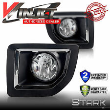 15-16 GMC Sierra 2500 Fog Light Bumper Lamp Clear w/ Wiring Switch Kit - PAIR