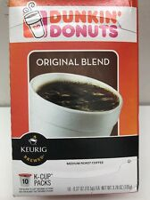 DUNKIN DONUTS 10 K-Cups Original Blend Medium Roast Coffee for Keurig