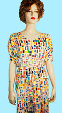 NWT FASHION STAR White Confetti Pleated Belted Womens Sz Large Sheath Dress $79