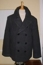 NEW XXL Men's Polo Ralph Lauren Academy Dark Grey Wool Pea Coat Jacket RTL $495