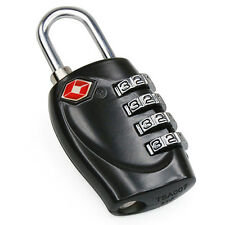 4-Dial TSA Combination Padlock Luggage Suitcase Bag Travel Security Lock Black