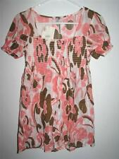 NWT SO WEAR IT DECLARE IT JUNIORS FLORAL TUBE TOP STYLE BLOUSE MEDIUM