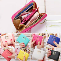 Coin Purse Womens Fashion Bag Card Holder Leather Pouch Clutch Zip Small Wallets