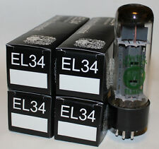 Matched Quad Electro Harmonix EL34 tubes, Brand NEW