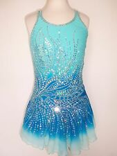 CUSTOM MADE FIGURE NEW ICE SKATING BATON TWIRLING DRESS