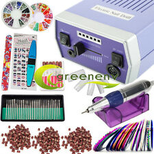 Blue Improved Overheat 30000 RPM Electric Drill Nail Art File Drill Manicure set